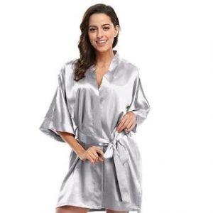 Silver Bridal Robe