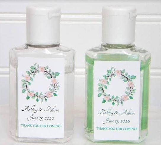 Personalised Wedding Gift Favour Hand Sanitiser