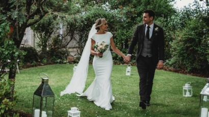 Bride and Groom Marry at Home during Coronavirus Restrictions