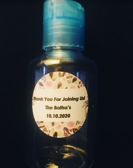 Personalised Wedding Gift Favour Hand Sanitiser