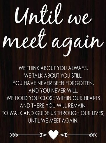 Until We Meet Again - Remember Your Loved One at Your Wedding