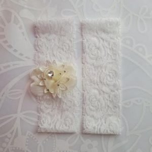 Garter Pair | Bridal Wedding Garters in Ivory or Cream