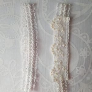 Two Garters for One, one garter for keepsake & one garter to throw at your reception | Garter Pair | Ivory White