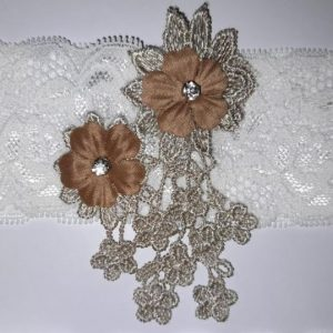 Bridal Wedding Champagne Paired Garters