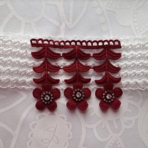 Beautiful Bridal Wedding Garter | Bride Garter | Burgundy