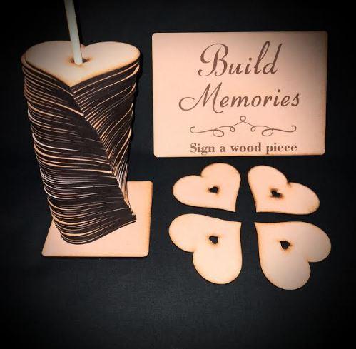 Wedding Guest Book Heart | Build Memories