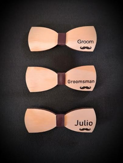 Wedding Wooden Bowties   All Wedding Roles   Groom and Groom Team Attire   Customised and Unique   Making BEST Wedding Photos and Memories