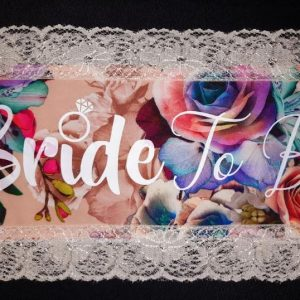 Beautiful Uniquely Crafted Floral Bridal Wedding Sash | Customised Mrs or Bride To Be Sash | Personalised Text