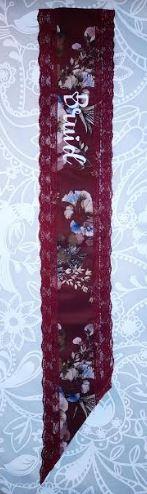 Burgundy Floral Personalised Sash