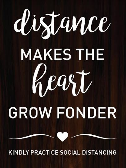 'Distance makes the heart grow fonder'