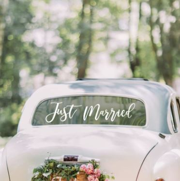 Wedding Car Sticker