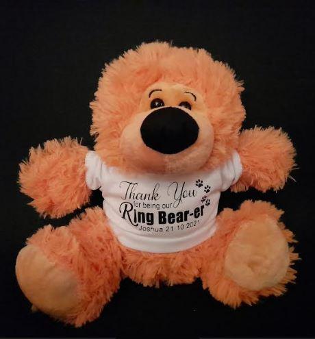 Personalised Teddy Bear Wedding Thank You Gift | Pageboy | Flowergirl