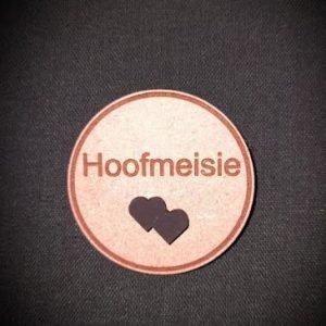 Wedding badge hoofmeisie