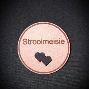 Wedding badge strooimeisie