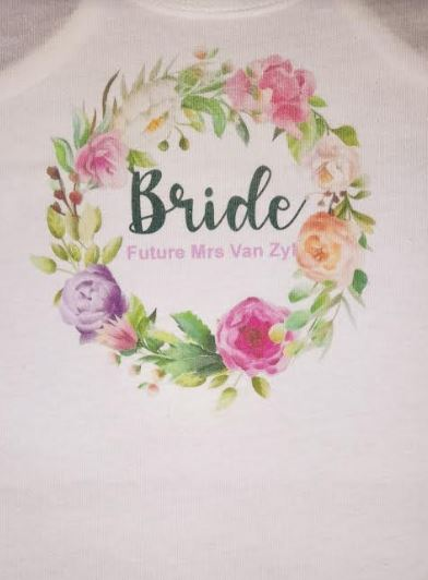 Customised Bridal Wedding Tshirt