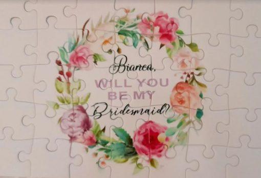 Customised Bridal Puzzle Bridesmaid Flowergirl Proposal