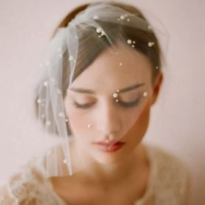 Bridal Bride Wedding Veil | Elegant one layer with Pearls