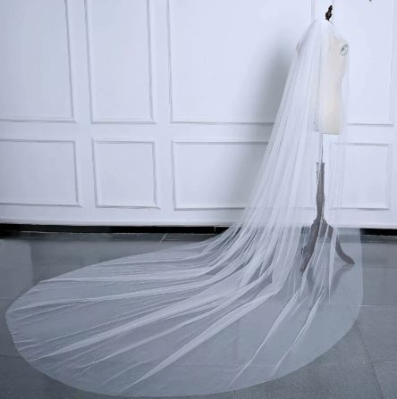 Stunning Bridal Bride Wedding Veil   Cathedral 3 metre   Comb included   2 layers