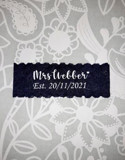 Personalised Customised Bridal Bride Wedding Garter
