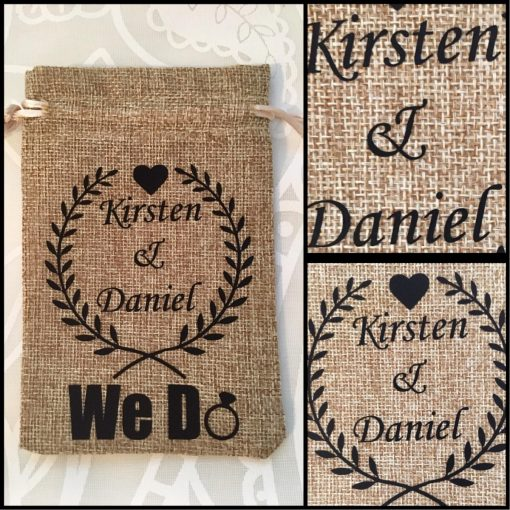 Personalised Wedding Ring Pouch | Customised Ring Pouch