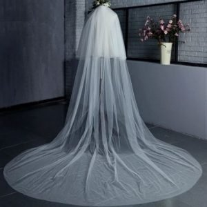 Stunning Bridal Bride Wedding Veil | Cathedral 3 metre | Comb included | 2 layers