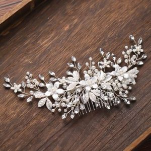 Beautiful Silver Bridal Wedding Haircomb | Bride Headpiece