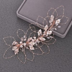 Beautiful Rose Gold Bridal Wedding Haircomb | Bride Headpiece