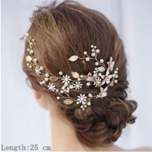 Beautiful Light Gold Bridal Wedding Haircomb | Bride Headpiece