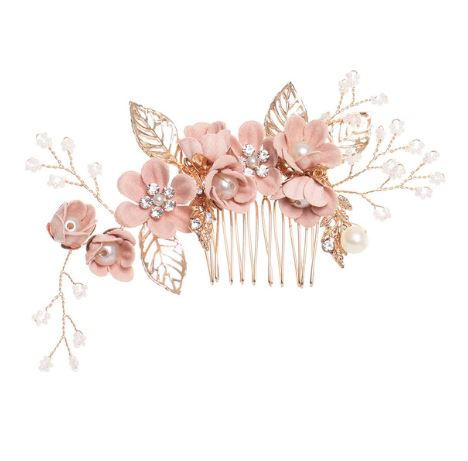 Bridal Hairpiece Hair Comb | Light Pink Haircomb | Hair Accessories