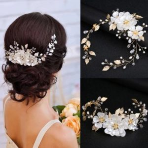 White Pearl Leaf Bridal Hairpiece | The Bride Hairpiece