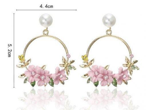 Stunning Flower Wreath Earrings | Perfect Bridesmaid Wedding Thank You Gift