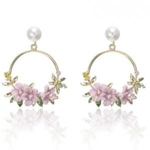 Stunning Flower Wreath Earrings | Perfect Bridesmaid Wedding Thank You Gift