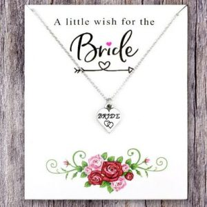 A little wish for the Bride | Silver Necklace on a Card