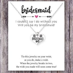 Will you be my Bridesmaid? | Silver Necklace on a Card