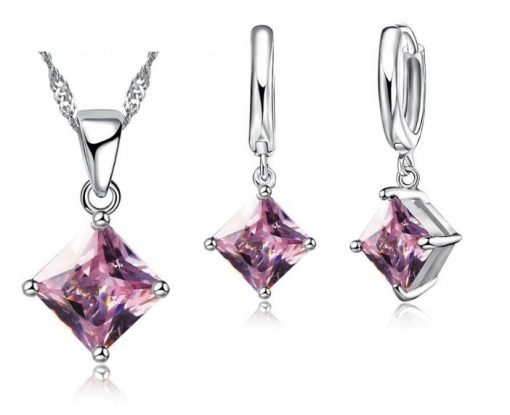 Beautiful Necklace Earring Sets   Perfect Bridesmaid and Flowergirl Gift   Pink or White