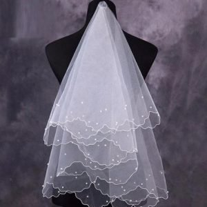 Beautiful Bridal Wedding Veil with Pearls | Bride Veil