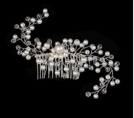 Bridal Pearl Shimmer Hairpiece   Bride Haircomb