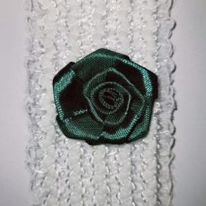 Beautiful Bridal Wedding Garter Pair | One to keep sake and One to throw | emerald green flower