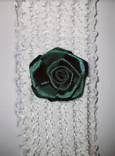 Beautiful Bridal Wedding Garter Pair | One to keep sake and One to throw | emerald green flower