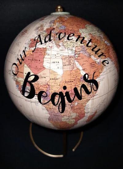 Wedding Guest Book Bridal Alternative | Personalised World Map on Rotating Globe