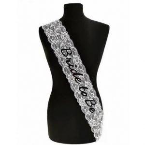 Personalised Bridal Wedding Sash | Customised Lace Sash | Bride | Flowergirl | Bridesmaid | Mother of Bride/Groom