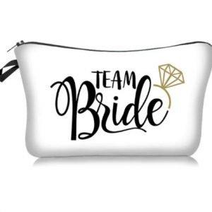 Team Bride Make up Bag | Bridesmaid Wedding Organiser Necessity | Bridesmaid Gift