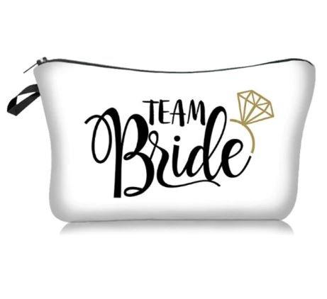 Team Bride Make up Bag   Bridesmaid Wedding Organiser Necessity   Bridesmaid Gift