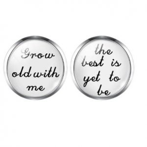 Grow old with me, the Best is yet to be | Groom Husband Cufflinks