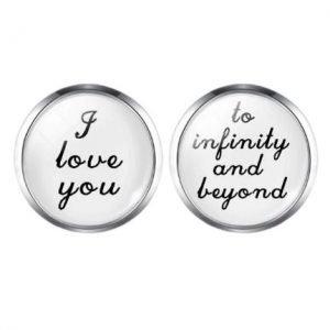 I love you to infinity and beyond | Groom Husband Cufflinks