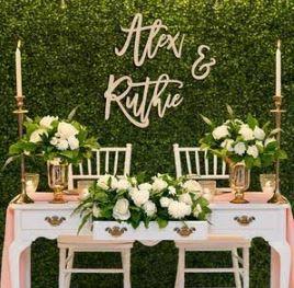Personalised Mr & Mrs Table Name | Customised Wedding | Wood or Perspex