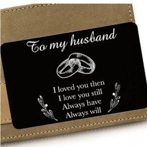 Husband | Boyfriend | Fiance' | Wedding Gift | Wallet Insert Card for Him