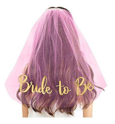 Hen's Party Bridal Bride To Be Veil | Bachelorette | Pink