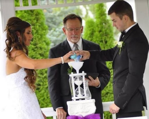 Customised Personalised Wedding Ceremony Sand Hourglass Kit | Two Become One