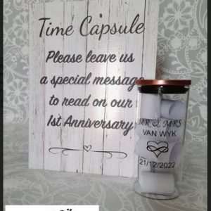 """Personalised Wedding Time Capsule Guest Book 